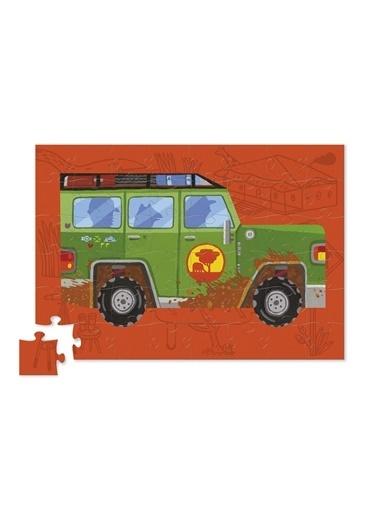 Crocodile Creek 48 Parça Araçlar Puzzle/Jeep Renkli
